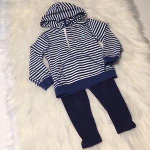 Ralph Lauren striped hoodie/Gymboree leggings 3T